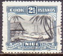 "NIUE 1932 SG 65 2½d Used Wmk ""Single"" - Niue"