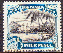 "NIUE 1932 SG 66 4d Used Wmk ""Single"" - Niue"