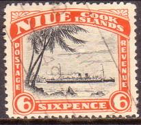 "NIUE 1944 SG 94 1sh Used Wmk ""Multiple"" - Niue"