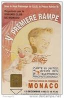 CARTE-PUBLIC-MONACO-MF 26-GEM-10/92-5e RAMPE Du CIRQUE-N° Série B-UTILISE-TBE