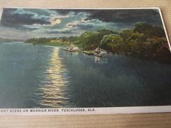 CP MOONLIGHT SCENE ON WARRIOR RIVER TUSCALOOSA  ALA - Tuscaloosa