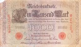 REICH GERMANY / NAZI GERMANY - BANK NOTE - 1910 - 1000 MARK - [ 2] 1871-1918 : Duitse Rijk