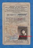 Carte Ancienne D'identité De Chemin De Fer - 1939 / 1941 - Réduction De 50% - Yvonne Dutot De Paramé - Train - Transportation Tickets