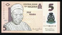 Nigeria 2013, 5 Naira - UNC - AJ7880914 - Nigeria