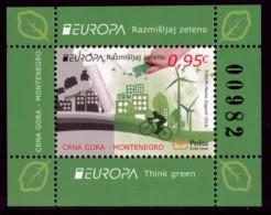 "MONTENEGRO/Crna Gora EUROPA 2016 ""Think Green"" Set Of 1v + Minisheet** - Europa-CEPT"