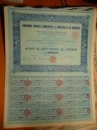 Compagnie Agricole Commerciale Et Industrielle De Badikaha -100 F 1927 Grand Bassam - Afrique