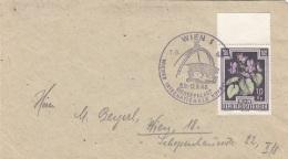 ÖSTERREICH 1948 - 10+5 Gro Mit Randstück (Ank877) Auf Brief Mit Sonderstempel Messepalast - 1945-.... 2. Republik