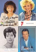 Lot De 20 Carte Photo Autographe (Alain Delon, Arlette Vincent, Helmut Lotti, Jan Staes, Cogoi, Davignac....) Au Premier