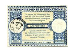 !!! COUPON REPONSE INTERNATIONAL A 6,5 PIASTRES DU VIET-NAM CACHET DE SAIGON DU 16/4/1969 - Vietnam
