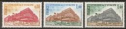 FRANCE    -    SERVICE   -    1977 .  Y&T N° 53 à 55 **.   Conseil De L' Europe.  Série Complète - Mint/Hinged