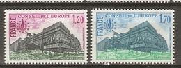 FRANCE    -    SERVICE   -    1978 .  Y&T N° 58 à 59 **.   Conseil De L' Europe.  Série Complète - Officials