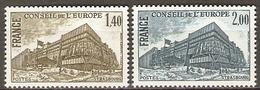 FRANCE    -    SERVICE   -    1980 .  Y&T N° 63 à 64 **.   Conseil De L' Europe.  Série Complète - Officials
