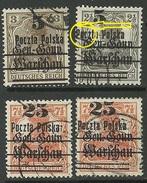 POLEN Poland 1918 Michel 14 - 16 Incl Variety ERROR OPT Swift O