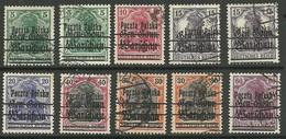 POLEN Poland 1918 = 10 Werte Aus Michel 6 - 13 O