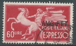 1950 TRIESTE A ESPRESSO USATO DEMOCRATICA 60 LIRE - L28 - Eilsendung (Eilpost)