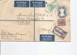 Inde ( Lettre Par Avion De 1953 De Bombay Vers L'Italie à Voir) - Lettres & Documents