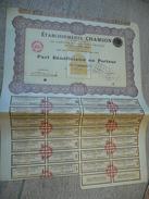 RARE - MAROC - Saffi - Part De Fondateur établissements Chamson 1928 - Annulé 1956 - Afrique