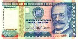 PEROU  500000 INTIS Du 21-12-1989  Pick 147  UNC/NEUF - Peru