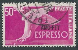 1952 TRIESTE A ESPRESSO USATO DEMOCRATICA 50 LIRE - L16 - 7. Triest