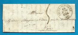 Yonne -Arcys Sur Cure. CàD Type 12 + Taxe Tampon5. 1834. Ecrite Au Chateau D'Arcy - Marcophilie (Lettres)