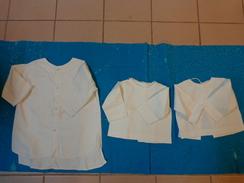 Lot 3 Chemises Vintage De Bebe Pour Poupee -poupon-973 - Children