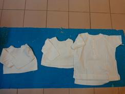 Lot 3 Chemises Vintage De Bebe Pour Poupee -poupon-975 - Children