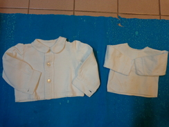 Lot 2 Chemises Vintage De Bebe Pour Poupee -poupon-979 - Unclassified