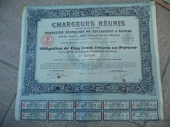 Chargeurs Réunis 6,5% Action 500 Francs 1921 - Annulée - Navigation