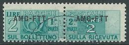 1949-53 TRIESTE A PACCHI POSTALI USATO 2 LIRE - LL6 - Paketmarken/Konzessionen