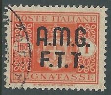 1947 TRIESTE A SEGNATASSE USATO 1 LIRA - LL3 - 7. Trieste