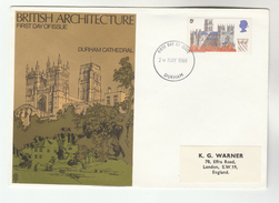1969 Durham  GB FDC 5d DURHAM   CATHEDRAL  Stamps Church Cover - FDC