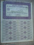 Société Dieppoise De Chalutage Et De Consignations 1927 Action 100 F Au Porteur - Navigation