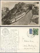 P738 Postkarte BRD 1952 Echtfoto Wendelsteinbahn Handstempel Brannenburg Bayern EF Posthorn Mi. 128 +  Notopfer - [7] République Fédérale
