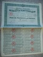 Société Française Des Pétroles De Tchécoslovaquie - Part De Fondateur 1930 - Pétrole