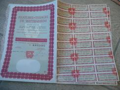 Filatures & Tissages De Wittenheim Action De 100F - Wittenheim - Textile