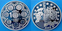 FRANCE 1,5 E 2002 ARGENTO PROOF SILVER EURO INTRODUCTION OF THE EURO PESO 22,2g TITOLO 0,900 CONSERVAZIONE FONDO SPECCHI - France