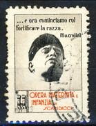 """Erinnofili, Italia 1938, Opera Maternità E Infanzia Scandicci, """"...e Ora Cominciamo A Fortificare La Razza"""", Mussolini - Italia"""