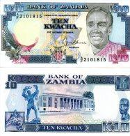 ZAMBIA 10 Kwacha ND(1989-) P-31b **UNC** - Zambia