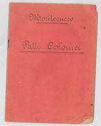 LIBRETTO PATTI COLONICI ANNI 50 TENUTA MONTECUCCO (RL146 - Italia
