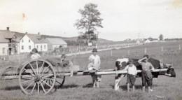 Canada Quebec Gaspésie Anse Au Gascon Scene Agricole Famille Ancienne Photo Snapshot Vers 1920