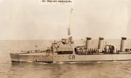 WWI WW1 Destroyer Italien CR Navire De Guerre Militaire Ancienne Photo 1914-1918