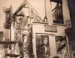 Belgique WWI WW1 Anvers Ruines De La Maison Du Peintre David Teniers Ancienne Photo 1914-1918