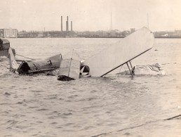 USA Avion Militaire Hydravion Bombardier Douglas LWF DT-2 Crash Ancienne Photo 1924