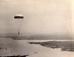 USA Aviation Militaire Saut En Parachute Ancienne Photo US Navy 1920's