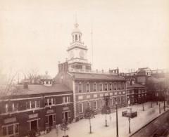 USA Philadelphia Independence Hall Ancienne Photo Albumine 1880