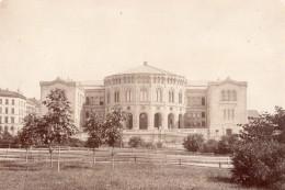 Norvege Oslo Christiania Storting Parlement Stortingsbygningen Ancienne Photo 1880 - Photographs