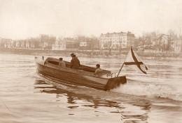 France Vedette Automobile Despujols Pour Le Gouvernement Russe Ancienne Photo Rapid 1910 - Boats