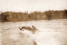 France Hydroplane En Vitesse Riviere Ancienne Photo Rapid 1910