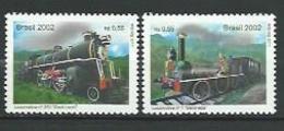 Brazil 2002 Steam Locomotives In Brazil - Baroneza Locomotive Number 1 And Number 370.railway, Railroad.MNH - Nuovi