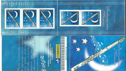 Brazil / Brasil 2001 Musical Instruments ( Flauta / Flute ).Music,Booklet.Carnet.5 Stamps.MNH - Ungebraucht